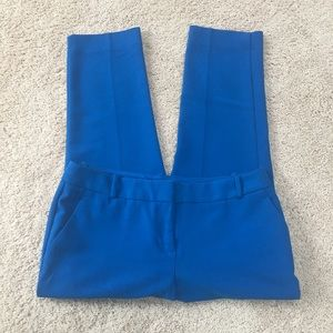 The Limited Bright Blue Cropped Dress Pants